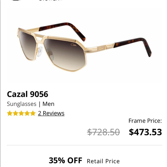 49d75acdb29 Cazal Other - Cazal 9056 Men s Gold Brown Gradient Sunglasses